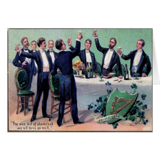 Victorian St Patrick's Day Card