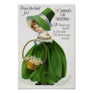 Victorian St Patrick's Day Poster
