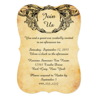 Victorian Style High Tea Invitations