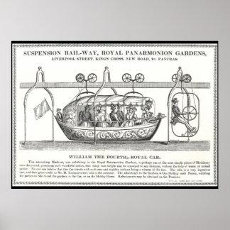 Victorian Suspension Railway Poster 1830