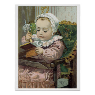 Victorian Sweet Precious Baby Art Print Poster