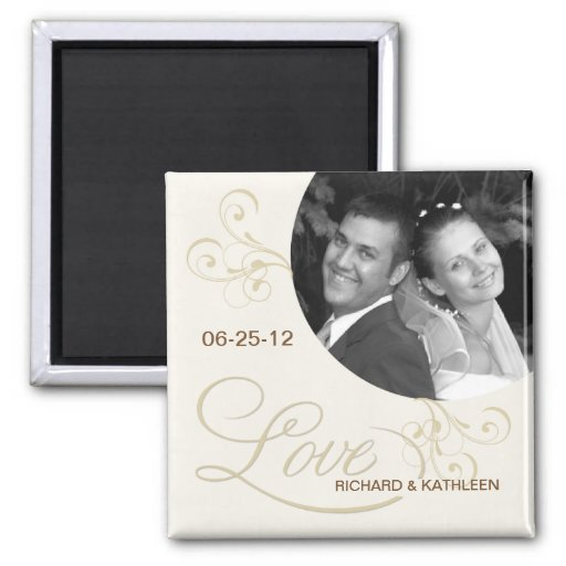 Victorian Swirls - Save the Date Photo Magnet Magnets