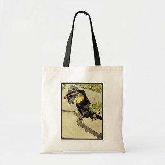 Victorian Toucan Tote Bag