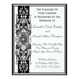 Victorian Vintage 11 Cm X 14 Cm Invitation Card