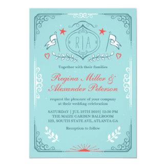 Victorian Vintage Medieval Wedding Invitation