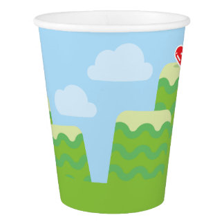 Video Game Themed Paper Cups