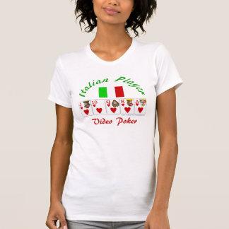 Video Poker : Italian video poker player T-Shirt