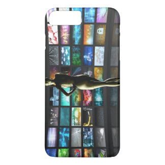 Video Streaming as Technology Concept with Lady iPhone 8 Plus/7 Plus Case