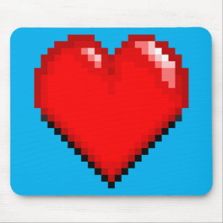 Videogame Life Heart - Pixel Heart Mouse Pad