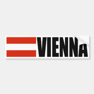 Vienna Austria Flag Bumper Sticker