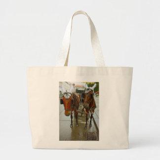 Vienna horses large tote bag