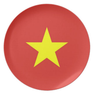 Vietnam Flag on Plate