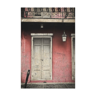 Vieux Carre Architecture Stretched Canvas Print