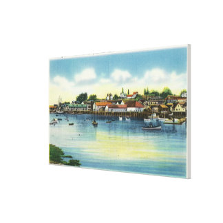View Along the Waterfront Canvas Print