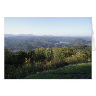 View from Chilhowee Mountain Card