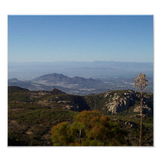View from Sandstone Peak, Santa Monica Mountains Poster