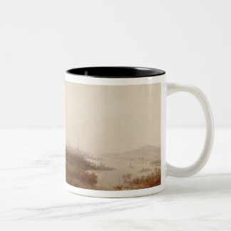 View from Schloss Sanssouci, Potsdam, 1750 Two-Tone Coffee Mug