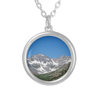 View from the Blue Lakes-Monte Cristo Gulch Trail Round Pendant Necklace