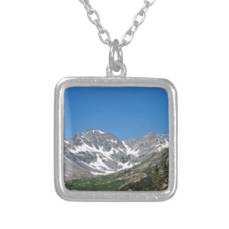 View from the Blue Lakes-Monte Cristo Gulch Trail Square Pendant Necklace