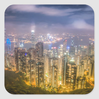 View from The Peak, Hong Kong Square Sticker