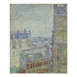View from Theo s Apartment by Vincent Van Gogh Photographic Print