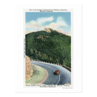 View of a Hairpin Curve on the Memorial Hwy Postcard