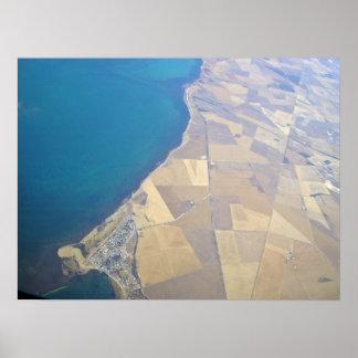 View of a ocean print