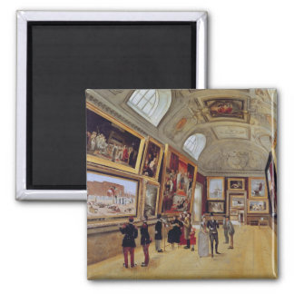 View of a Room in the Musee du Luxembourg in Square Magnet