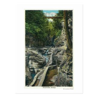 View of a Suspension Bridge Postcard