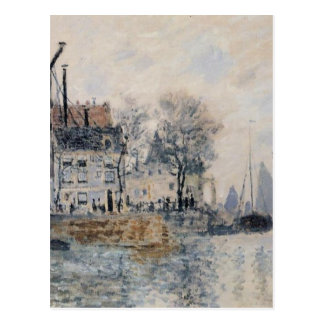 View of Amsterdam by Claude Monet Postcard