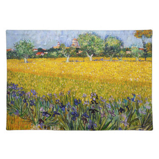 View of Arles with Irises Vincent van Gogh paint Placemat