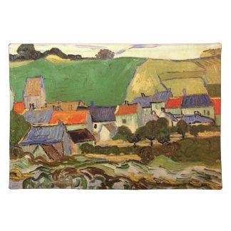 View of Auvers Vincent van Gogh. Placemat