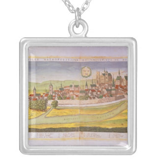 View of Bourges and the University Silver Plated Necklace