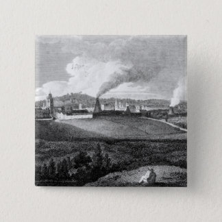 View of Bristol from Pile Hill, engraved by 15 Cm Square Badge
