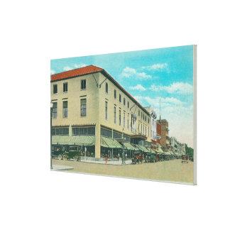 View of Business Block on Idaho Street Canvas Print