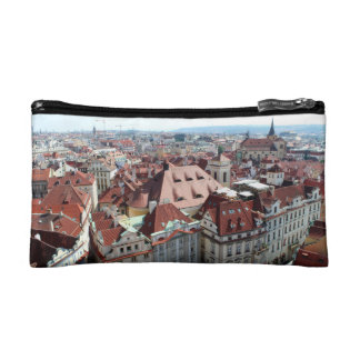 View of capital city of Prague in Czech Republic Cosmetic Bag