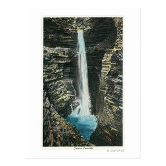 View of Cavern Cascade Postcard