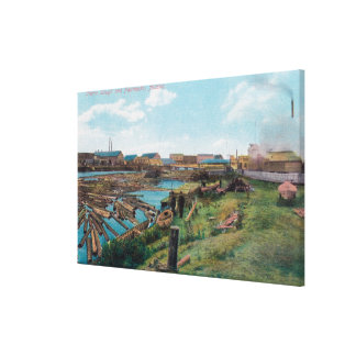 View of Chena Slough from the City Canvas Print