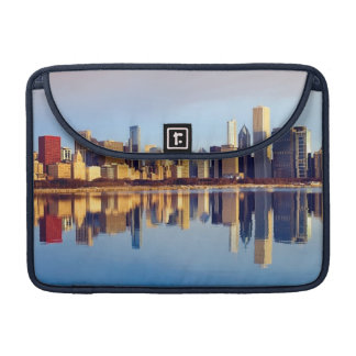 View of Chicago skyline with reflection Sleeve For MacBook Pro