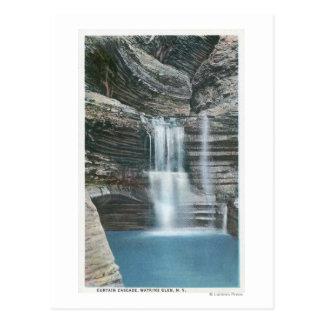 View of Curtain Cascade Postcard