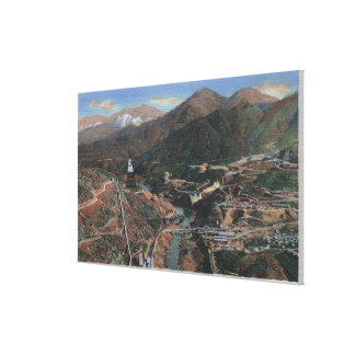 View of Dam During Construction Canvas Print