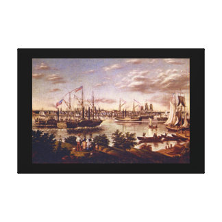 View of Detroit in 1836_Art of America Canvas Print