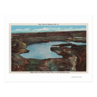 View of Dry Falls from Hwy. 10Washington Postcard