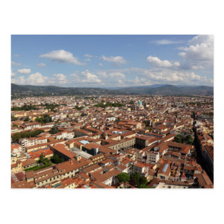View of Florence, Italy from the top of the 2 Postcard