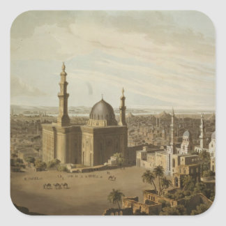 View of Grand Cairo, engraved by Daniel Havell (17 Square Sticker