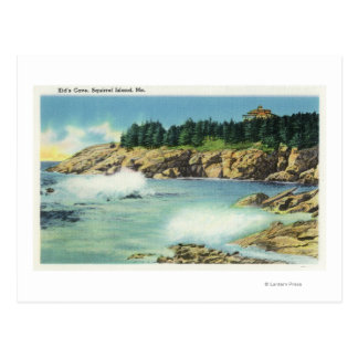 View of Kid's Cave at Squirrel Island Postcard