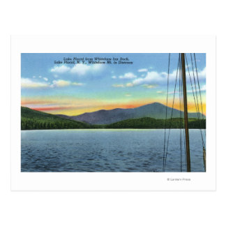 View of Lake from Whiteface Inn Dock Postcard