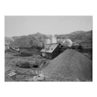"View of Mining Factory ""Homestake Works"" Poster"
