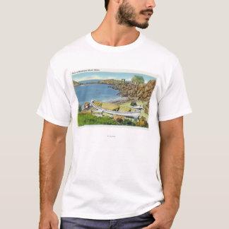 View of Monhegan Island, Beach Scene T-Shirt
