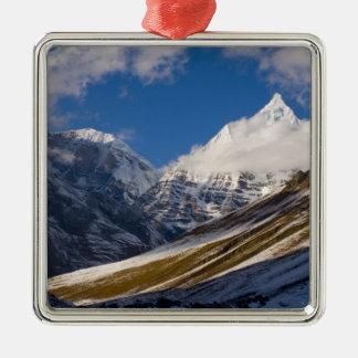 View of Mount Jichu Drake, Bhutan. Christmas Ornament